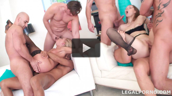 No limits double anal battle for sexy whore