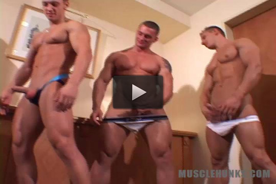 MuscleHunks — Dragos Miovich, Johnny Dirk & Adrian Cole — Hard Deal Makers