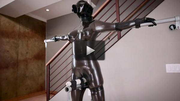 Super bondage, domination and torture for hot slavegirl in latex