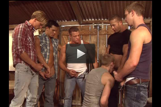 Best Retro Gangbang With Muscle Fuckers
