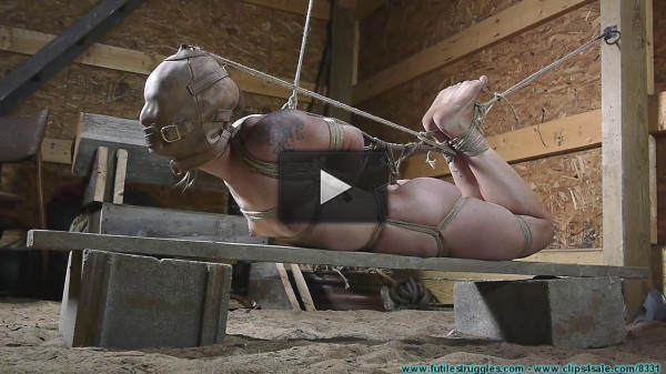 Tight Crotchrope and a Hooded Hogtie — Scene 4 - HD 720p