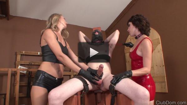Alina Long, Sasha Sweet - Milking Slave 666 (mistress, vid, cock, cum)