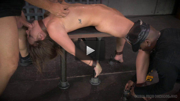 All natural redhead Maddy O'Reilly shackled down,
