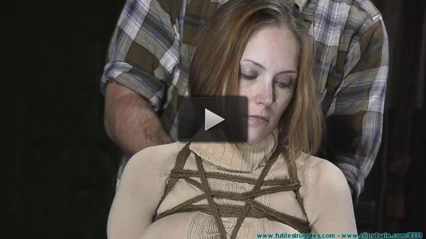 House girl Rachel slave roped hard and gagged rough action. enjoy!!!