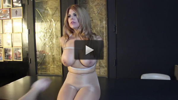 Super bondage, domination and hogtie for very horny blonde HD 1080p