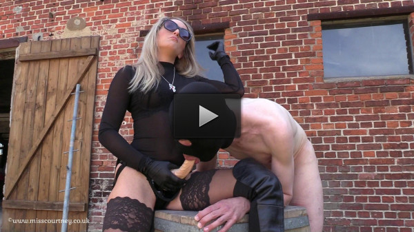 Mistress Courtney Strap-On In The Sun At The Farm