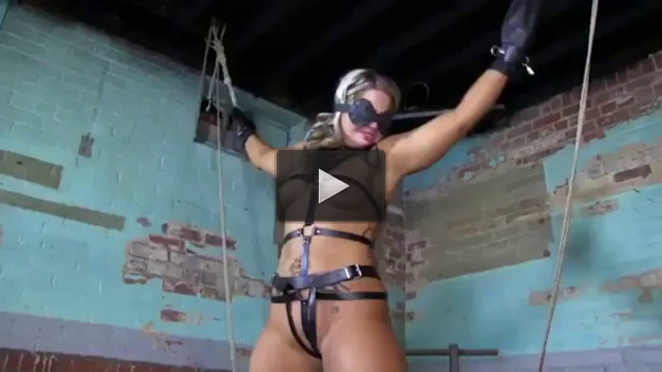 Tight bondage, strappado and torture for naked blonde (part 1)