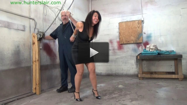HunterSlair — Gigi — Stretched up by her steel bound tits