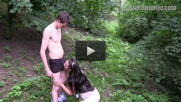 Czech babe and her fagots lovers in nature - anal, sex, waiting.