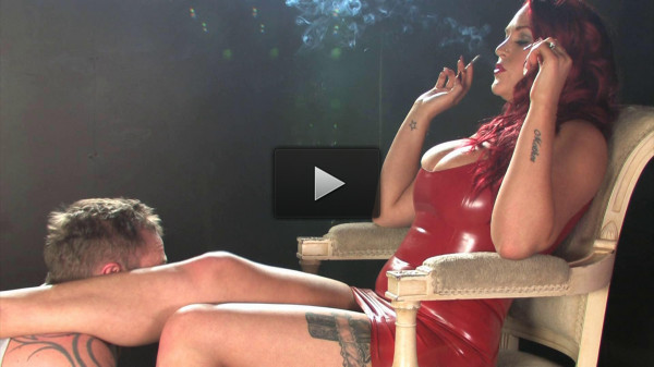 Paige Delight Corks Latex Smoking Domination