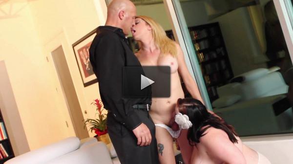 Romantic threesome as Christian fucks both TS Tyra Scott & BBW Eliza Allure 2017 (fuck, big ass, download)!