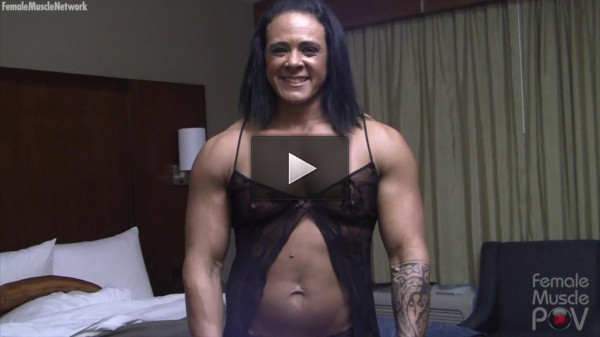 Goddess of Iron — She Rides Her Toy So Hard, She Might Break It. Watch Close Up