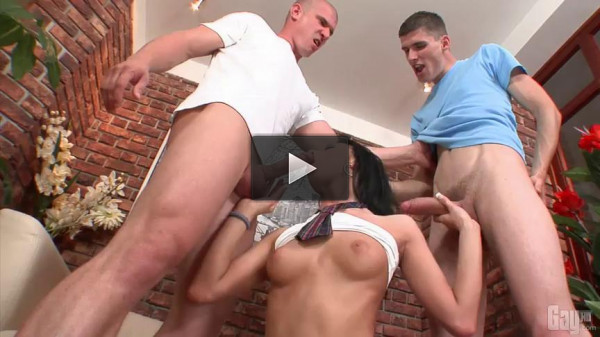 Him, Me, Or She part 2 - Regina - video, tiny, cock, couch