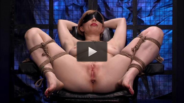 Blonde Restraint Chair & Anal Transformer