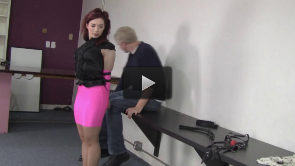 Ludella Hahn : Pink Hottskirted, Strapped and Led (hot, video, gets)!