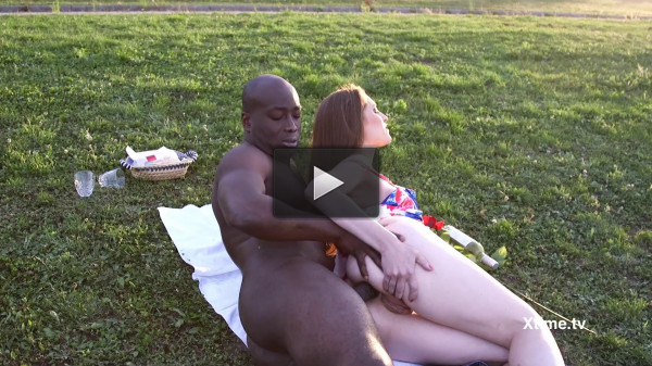 Alexandra Stein's anal pic nic (romantic, black guy, guy, threesome)