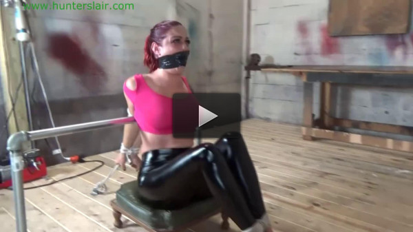 Tight bondage, predicament and torture for hot girl in latex Full HD 1080p