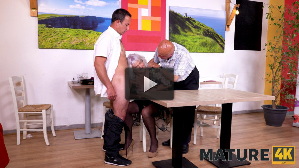 Judy — Hey, waiter! A coffee for me and a firm cock for my mature wife! — E15
