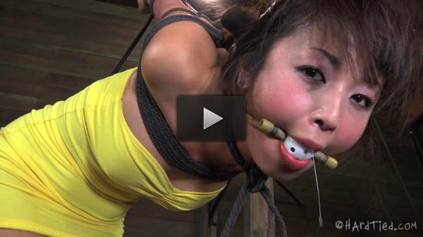 Japanese model bound & punished hard