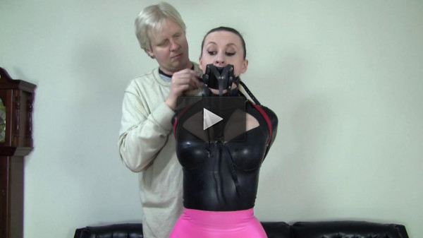 Serene Isley: Latex Secretary And A Strict Leather Hogtie - new, secretary, skirt, watch