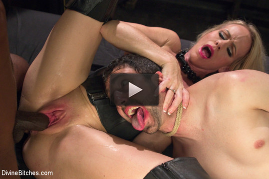 Mrs. S cuckolds her slave with big black alpha cock! (get fucked, tit, download)...