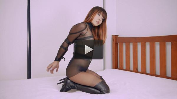 body leather gorgeous - (Black Pantyhose Hogtie)