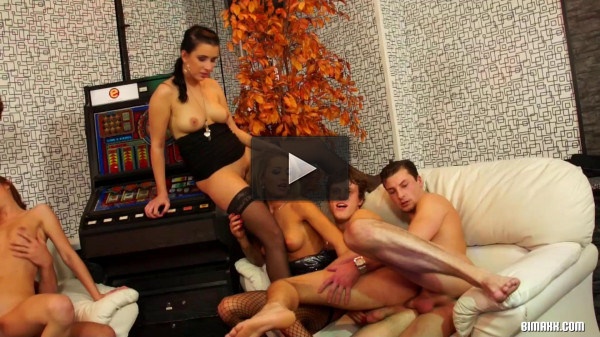 Naughty Bi Orgy Got Off To A Hardcore As Fuck Start