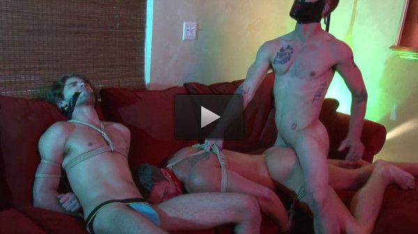 Ryan Rose First Bondage With James Hamilton and Duncan Black