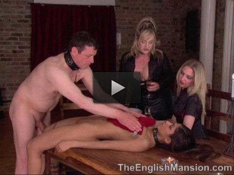 Slavegirl Banquet Part 1 - dom, video, vaginal