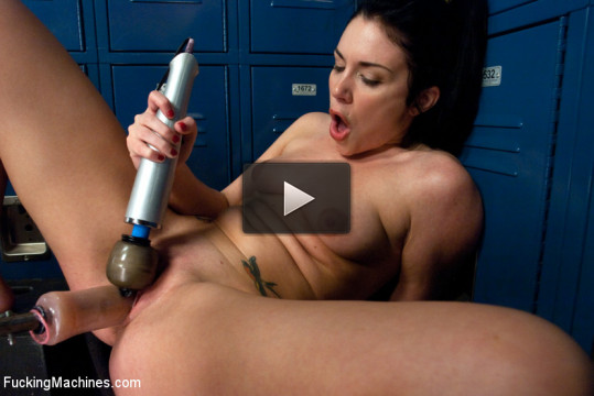 Machine Pounded to Stuttering Oblivian: Andy San Dimas Taken to Another Orgasm Level