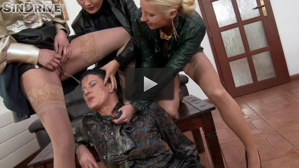 Hardcore lesbo hussies Celine Noiret, Vanessa, Vanessa Decker, and Victoria Puppy are on a serious pi