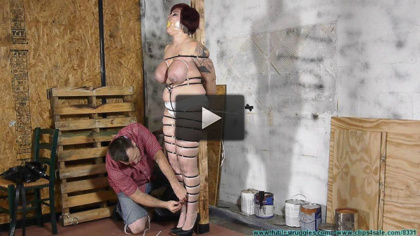 Jolies Big Tits Bounce As She Hops To the Workshop To Be Ziptied 2 part - BDSM