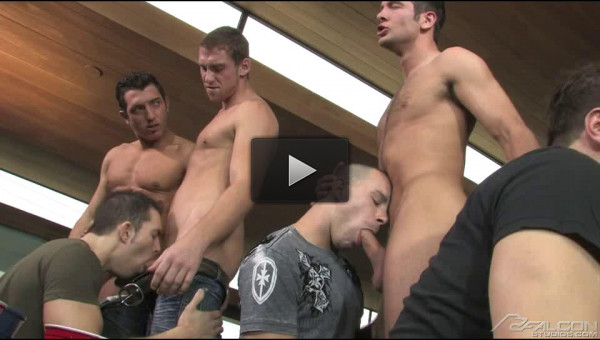 Muscle Men In Rough Group Sex