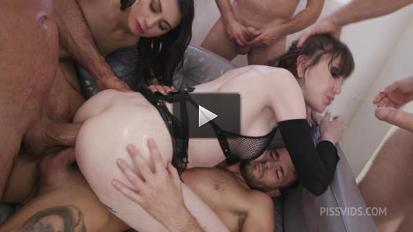 6on2 Orgy With Double Anal — Lena Moon & Francesca Palma