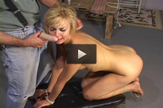 Bound and fucked in the ass.