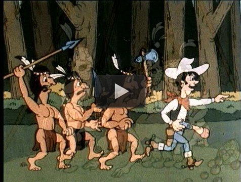 Cartoon about sex in the Indian tribe
