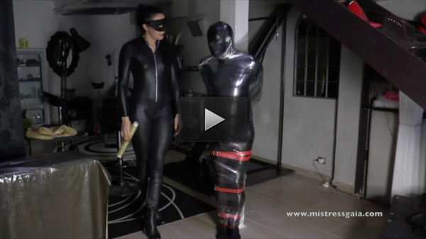 Mistress Gaia Sm. In Clingfilm and Latex