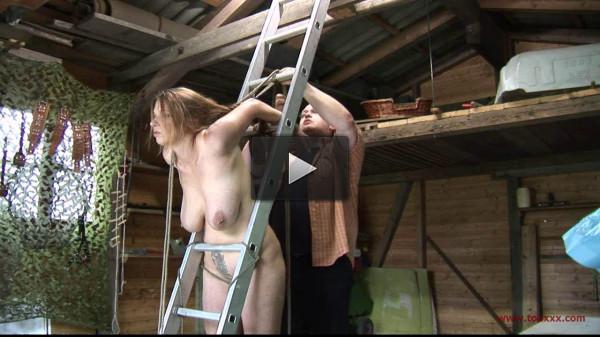 Predicament Bondage Garage Session for Bettine & Katharina