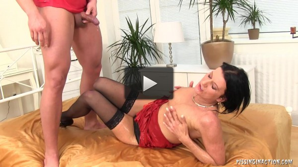 Sexy Milf Hostess With The Delivery Guy