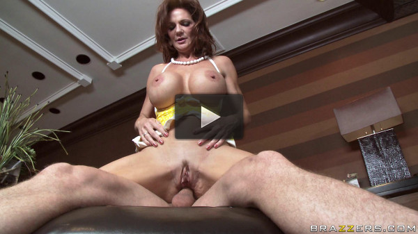 Busty Lady Goes To The One Guy's Big House