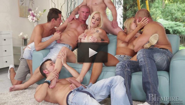 Bi Orgies part 1 (hung, gonzo, english).