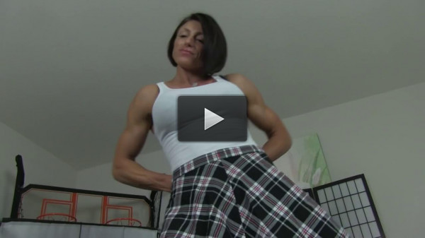 Big titted body builder goddess rapture gives hot naked dance
