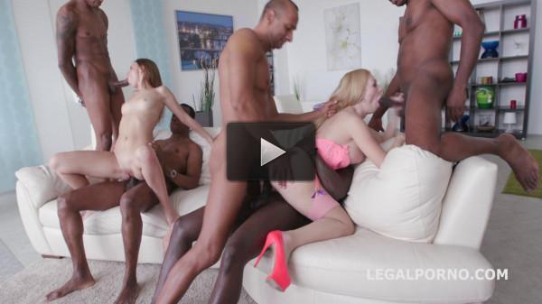 Black Busters Destroy Hot Sluts In DP Gangbang