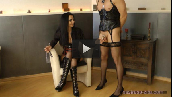 Mistress Zita - Sissy Slut Training (pantyhose, download, slave)!