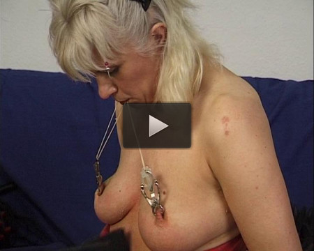 There are so many ways to hurt this blondie�s little snatch � and it actually looks like her domi
