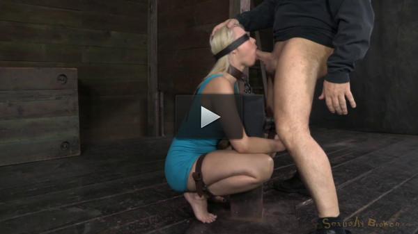SexuallyBroken - Stunning Anikka Albright does brutal deepthroat...