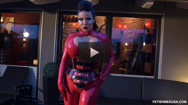 Glowing Red Style — Goddess Medusa — Full HD 1080p