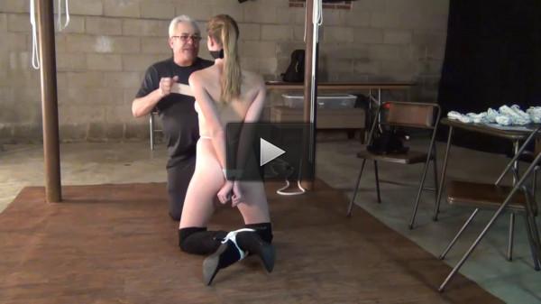 Tight bondage and domination for naked slavegirl Full HD 1080p