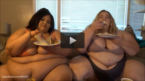 Ssbbw Brianna and Jae Eating Breakfast Part 2