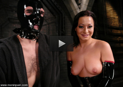 goo stud (Mistress Sandra Romain fucks slave boy).
